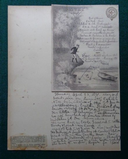 Antique Menu London House Lunch Given by Grand Duke Mecklenburg Schwerin 1891